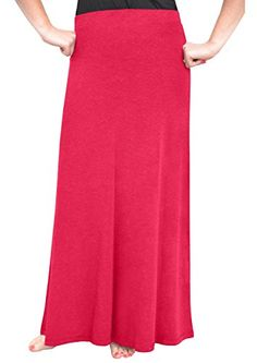 Kosher Casual Kids Big Girls Modest ALine Maxi Skirt Large Deep Raspberry * Read more reviews of the product by visiting the link on the image.