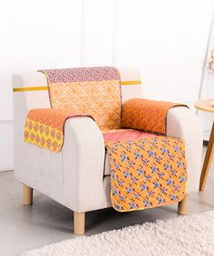 Love this Orange Escapade Chair Furniture Protector on #zulily! #zulilyfinds