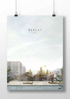 Andrés Jover. Mercat Farinós panel layout.: