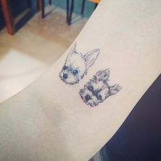 18 Charming Tattoos For Those Who Can't Choose Between Cats and Dogs | Tattoodo.com