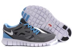 finest selection 1eb49 4b523 Wholesale Discount Mens Gray Navy Nike Free Run 2 The Most Lightweight Shoes