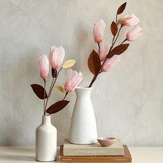 Paper Flowers - Magnolia http://www.westelm.com/products/paper-flowers-d2066/?pkey=cnew-accessories&cm_src=new-accessories||NoFacet-_-NoFacet-_--_-