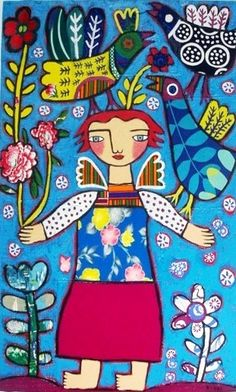 Rebecca  Cool - Angel With Birds
