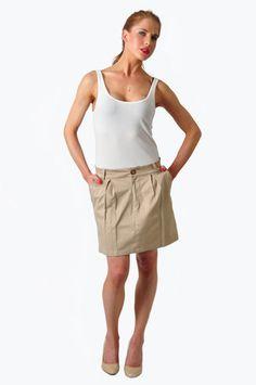 SilverSpoon Pleat Front Skirt  R200  www.prettyplease.co.za