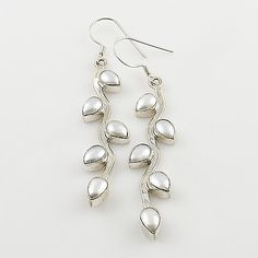 Pearl Vine Sterling Silver Earrings