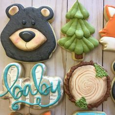 This listing is for ONE DOZEN decorated sugar cookies.  You will get a mixture of the above designs.  These adorable little woodland animals will add such cuteness to your baby shower dessert table!  These could easily be changed to a birthday theme....we can take out the 'baby' cookie and replace it with a number.Please note, we do not offer refunds.  We are currently 1-2 weeks out on cookie orders.  If you need your cookies before then, please contact me before placing your order.