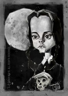 Wenesday Addams (Christina Ricci). E. Pitarch © 2015. All rights reserved.