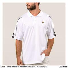 Gold Thor's Hammer Adidas Climalite polo shirt Samuel De Champlain, Green Polo Shirts, Golf Polo Shirts, Akita, Dr Hook, Golf Fashion, Trendy Fashion, Men's Fashion, Adidas Men