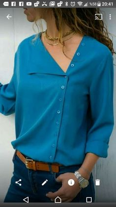 New sewing clothes tops autumn Ideas Sewing Clothes, Diy Clothes, Clothes For Women, Smart Outfit, Indian Designer Wear, Mode Inspiration, Pulls, Shirt Blouses, Chiffon Blouses