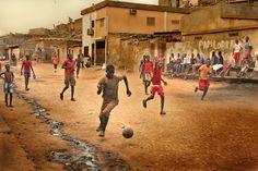 Marco Trovato in the Sambizanga slum of Luanda, Angola