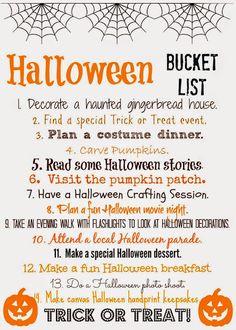 Halloween bucket list--activities we love for fall family fun via @thechirpingmoms