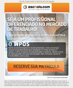 wPos: e-mail divulgando pós Graduação online