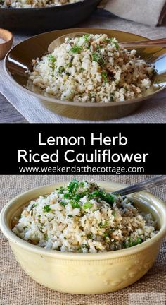 This low-carb, keto friendly side dish, is easy-to-make and so tasty. Finely chopped cauliflower sautéed in coconut oil with hazelnuts, garlic, ginger, mint, lemon and parsley. Keto Veggie Recipes, Vegetable Recipes, Mexican Food Recipes, Low Carb Recipes, Vegetarian Recipes, Vegetarian Side Dishes, Vegetable Side Dishes, Lemon Herb, Sauteed Vegetables