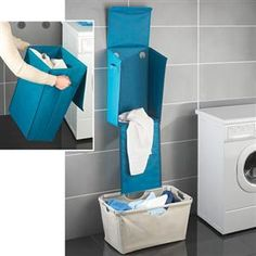 HANGING LAUNDRY BIN BLUE | Get Organized