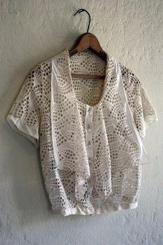 1920's eyelet blouse