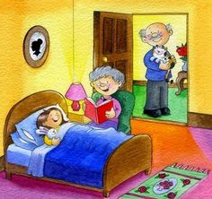 quenalbertini: Bedtime stories by kilikina Picture Composition, School Clipart, Grandma And Grandpa, Grandparents Day, Picture Description, Bedtime Stories, Cute Illustration, Speech Therapy, Cute Kids