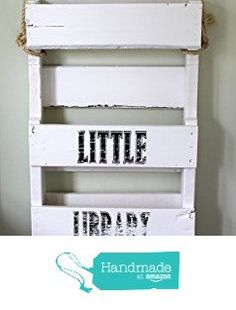 Wooden White Bookshelf Kids Solid Wood Bookshelves Book Shelf Children's Bookcase Recycled Pallet from Wickerhill Workshop http://www.amazon.com/dp/B017T67E06/ref=hnd_sw_r_pi_awdo_C84Xwb0PN2CQV #handmadeatamazon