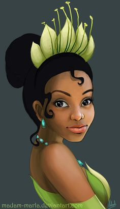 Princess Tiana by madam-marla.deviantart.com on @deviantART