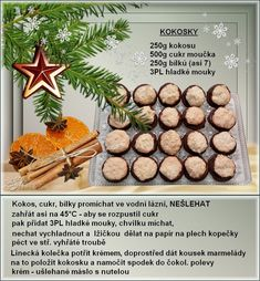 Christmas Baking, Christmas Cookies, Czech Recipes, Sweet Recipes, Healthy Life, Food And Drink, Place Card Holders, Sweets, Cooking