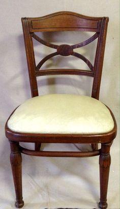 Greystone Fine Furniture - Vintage cream vinyl seat chair $85
