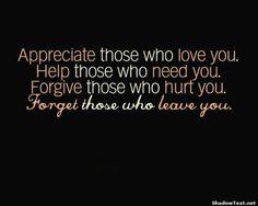 Those who leave you.