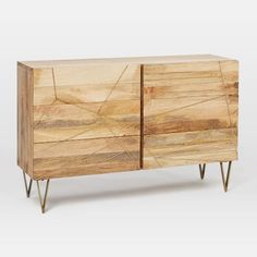 Roar+ Rabbit Brass Geo-Dresser 6-Drawer, Mango/Antique Brass