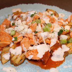 Buffalo sauce is one of my favorite condiments! I love the heat and richness that this sauce delivers!. I tried something new by piling buffalo chicken on top of crispy fries...and it was awesome! Drizzle it with ranch dressing, sprinkle on some green onions and you'll be in business!