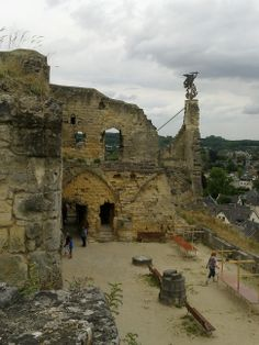 HOLLAND....VALKENBURG.   Castle Ruins - once an impressing castle, have dominated Valkenburg and surroundings from 1050 AD.