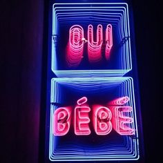 Image about neon+ in oui oui by ALE on We Heart It Neon Rosa, Neon Words, Neon Aesthetic, Neon Nights, All Of The Lights, Jolie Photo, Neon Lighting, Decir No, Signage