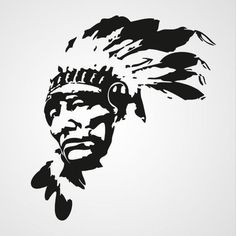native american chief stencil more silhouette stencil american indian American Indian Art, Native American Indians, Arte Tribal, Scroll Saw Patterns, Silhouette Art, Stencil Art, Native Art, Nativity, Pop Art