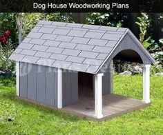 quot  x  quot  Gable Roof Style w  Porch Dog House Plans  G  Size      quot  x  quot  Gable Roof Style w  Porch Dog House Plans  G  Size up to lbs   Roof Styles  Dog House Plans and Dog Houses