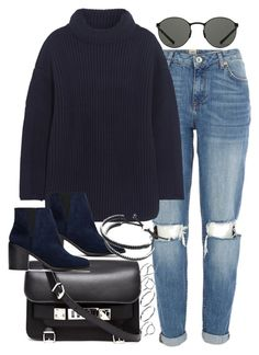 """""""Untitled #1637"""" by plainly-marie ❤ liked on Polyvore featuring River Island, Alexander McQueen, Proenza Schouler, Shellys, Mykita, Links of London and ASOS"""
