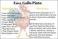 Recipe Gallo Pinto | Two Weeks in Costa Rica