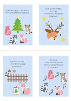 Preschool Christmas, Christmas Diy, Learn Finnish, Pre School, Kindergarten, Arts And Crafts, Clip Art, Printables, Teaching