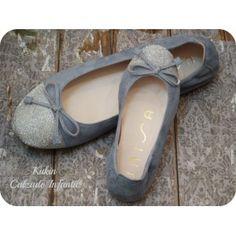 Zapatos niña - Bailarina azul Unisa -francesitas - manoletinas - Calzado infantil