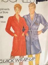 McCalls Sewing Pattern 0011 Misses / Mens Robe Size SM-XL UnCut