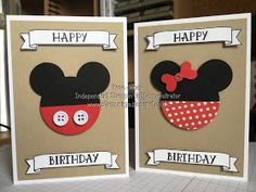 Hello and welcome back to Day 5 of my Punch Art week. Today's cards are just so cute, I love everything Disney, I'm one of those people. Disney Birthday Card, Cool Birthday Cards, Bday Cards, Handmade Birthday Cards, 11th Birthday, Punch Art Cards, Disney Cards, Cricut Cards, Card Patterns
