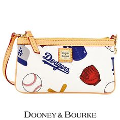 a5a60b90be0 Los Angeles Dodgers Large Slim Wristlet by Dooney Dodgers Nation
