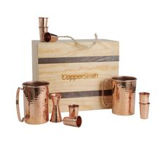 Copper Sinks, Bathtubs, Tables & More Copper Products Custom Metal Fabrication, Whiskey Shots, Copper Decor, Kitchenware, Tableware, Copper Pots, Beer Mugs, Shot Glasses, Tea Cups