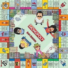 Until one of the major board game companies recognizes the genius of Gayle Force Winds, you're going to have to settle for this Bob's Burgers version of Monopoly. It comes with custom locations (obviously), and custom tokens of the Belcher family + Teddy. Monopoly Money, Monopoly Board, Monopoly Game, Fun Toys For Adults, Burger Co, Funko Toys, Bob S, Bobs Burgers, Love To Shop