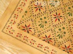 Wayside Inn Floorcloth 2 in Pine Yellow
