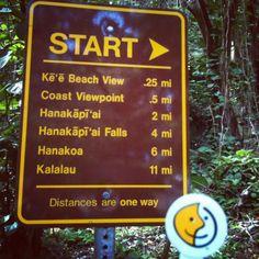 Swipp the Kalalau Trail sign. #kauai