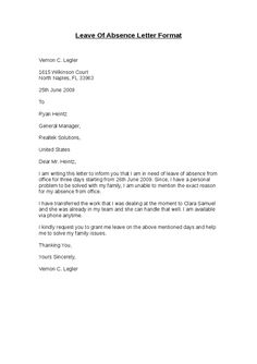 leave of absence letter format hashdoc leave of absence letter