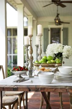 I can picture this same setting with MY dishes and accessories from my Mary & Martha Home business!  Love it! Contact me for a catalog - beth@moseley5.com