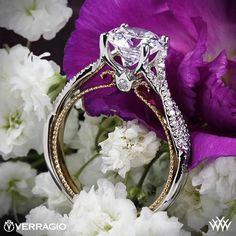 Verragio Twisted Two-Tone Diamond Engagement Ring