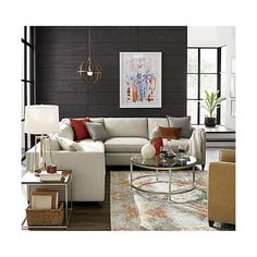 Shop Alvarez Garden Wool-Blend Rug.  Impressionist oriental lets the eye combine small dots of contrasting color, blending together into a painterly pattern of soft jewel tones.