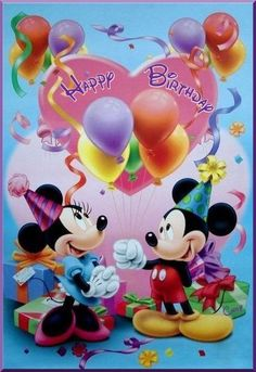 Minni y Mikie Mickey Mouse Art, Mickey Mouse Wallpaper, Mickey Mouse And Friends, Mickey Minnie Mouse, Mickey Mouse Pictures, Minnie Mouse Pictures, Happy Birthday Wishes Cards, Happy Birthday Pictures, Happy Birthday Mickey Mouse