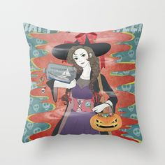My Sweet Witch Throw Pillow