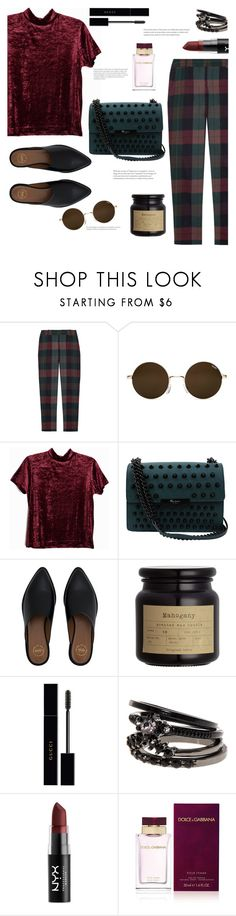 """""""Statements"""" by arwitaa ❤ liked on Polyvore featuring Theory, Foley + Corinna, Gucci, NYX, Dolce&Gabbana and statementbags"""
