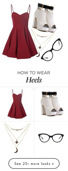 """Chunky heeled"" by skater-girl-style on Polyvore featuring Glamorous, Charlotte Russe and Prada"